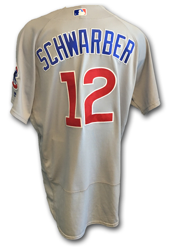 Kyle Schwarber Game-Used Jersey -- Cubs Clinch 2017 NL Central Division -- Cubs at Cardinals -- 9/27/17