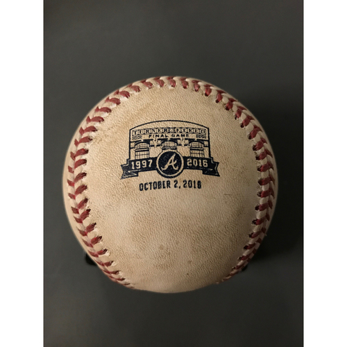 """Photo of Holiday Deal of the Day: Turner Field Final Game """"Game Ready"""" Baseballs - Today Only! $80 (Bases are Not MLB Authenticated)"""