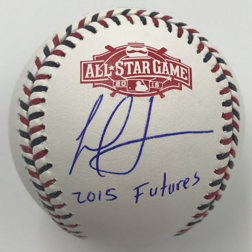"Photo of Frankie Montas ""2015 Futures"" Autographed 2015 All-Star Game Logo Baseball"