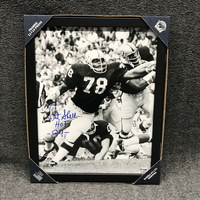 HOF - RAIDERS ART SHELL SIGNED 11X14 FRAMED PICTURE