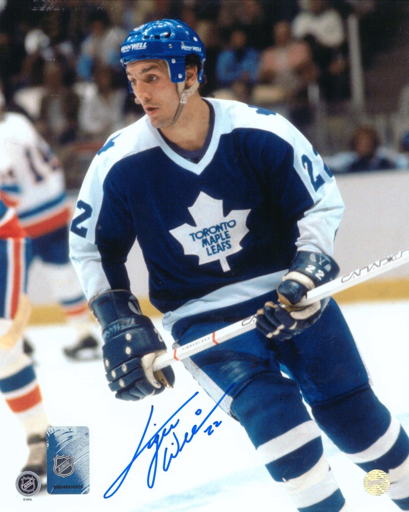 Tiger Williams - Signed 8x10 Unframed Toronto Maple Leafs Blue-V