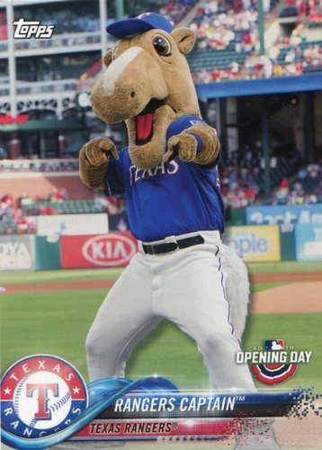 Photo of 2018 Topps Opening Day Mascots #M24 Rangers Captain