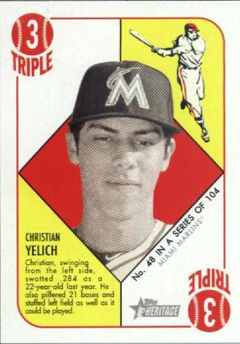 Photo of 2015 Topps Heritage '51 Collection #48 Christian Yelich