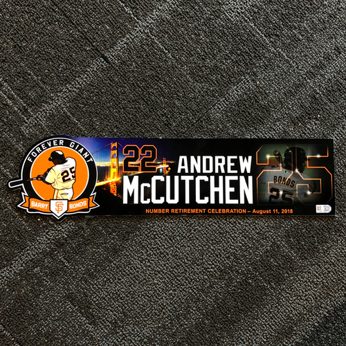 Photo of San Francisco Giants - 2018 Locker Tag #25 Retirement Day - Andrew McCutchen