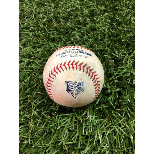 Photo of 20th Anniversary Game-Used Baseball: Miguel Andujar single off Diego Castillo - September 24, 2018 v NYY