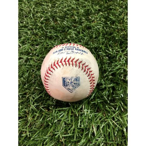 20th Anniversary Game-Used Baseball: Miguel Andujar single off Diego Castillo - September 24, 2018 v NYY