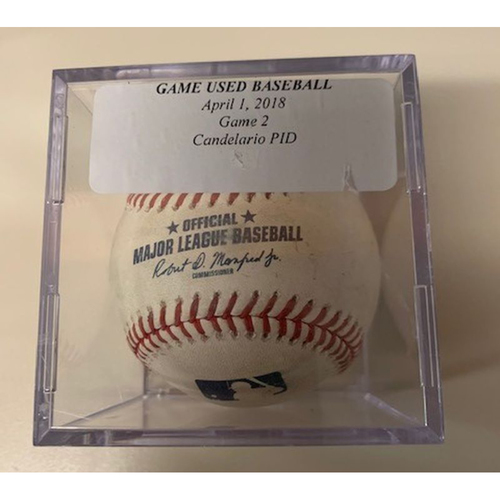 Photo of Game-Used Baseball: Pitched to Jeimer Candelario