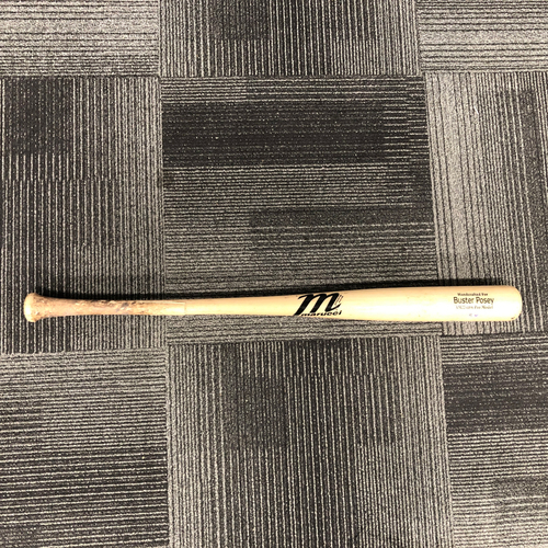 Photo of 2018 Game Used Broken Bat used by #28 Buster Posey on 7/14/18 vs. OAK - Foul Ball