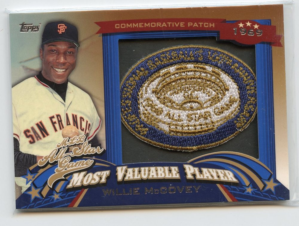 2013 Topps Update All Star Game MVP Commemorative Patches #5 Willie McCovey