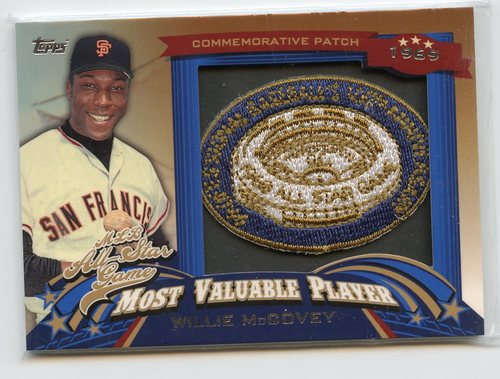 Photo of 2013 Topps Update All Star Game MVP Commemorative Patches #5 Willie McCovey