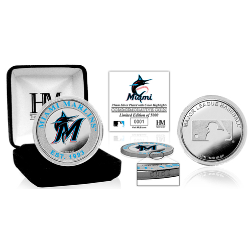 Photo of Miami Marlins Silver Color Coin