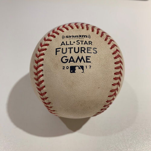 Photo of 2017 All Star Futures Game - Game Used Baseball - Batter: Ronald Acuna Pitcher: Brent Honeywell - Top 2nd -  Foul Tip