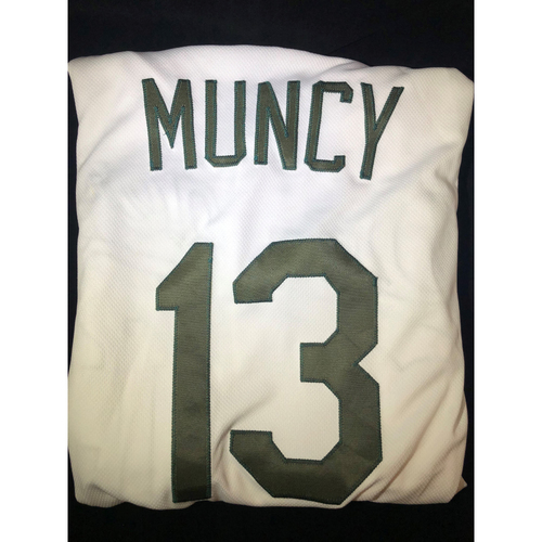 Photo of Max Muncy Authentic Game-Used 2018 Memorial Day Los Angeles Dodgers Jersey