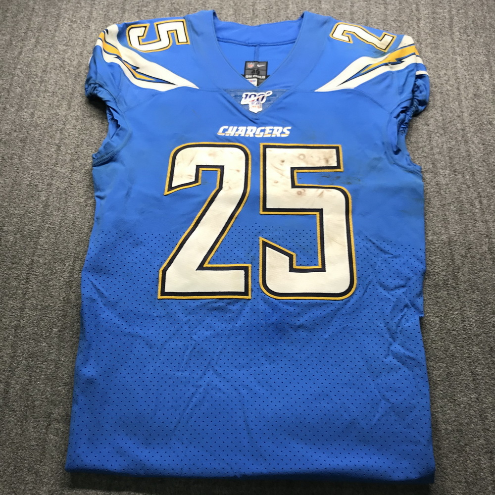 NFL Auction   Crucial Catch - Chargers Melvin Gordon Game Used ...