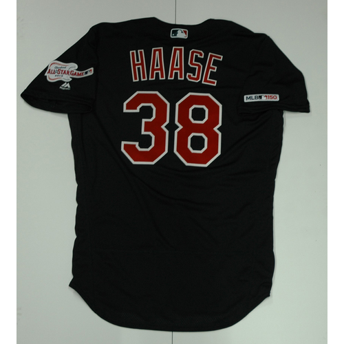 Photo of Eric Haase Team Issued 2019 Navy Road Alternate Jersey