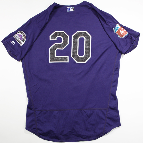 Photo of 2016 Spring Training - Spring Training Game Used Jersey - Jackson Williams (Rockies)- Size- 48