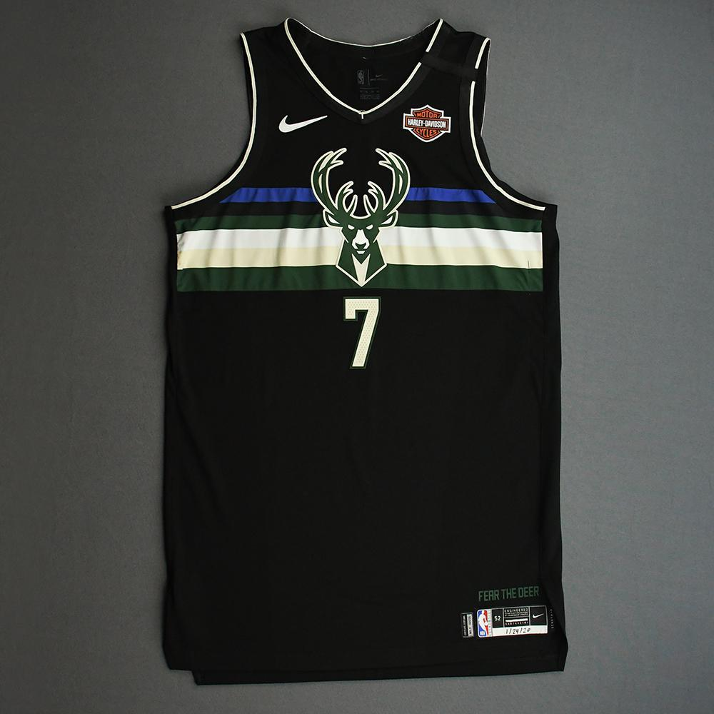 Ersan Ilyasova - Milwaukee Bucks - 2020 NBA Paris Games - Game-Worn Statement Edition Jersey