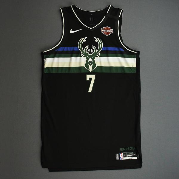 Image of Ersan Ilyasova - Milwaukee Bucks - 2020 NBA Paris Games - Game-Worn Statement Edition Jersey