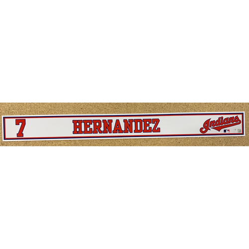Cesar Hernandez 2020 Spring Training Game-Used Locker Name Plate