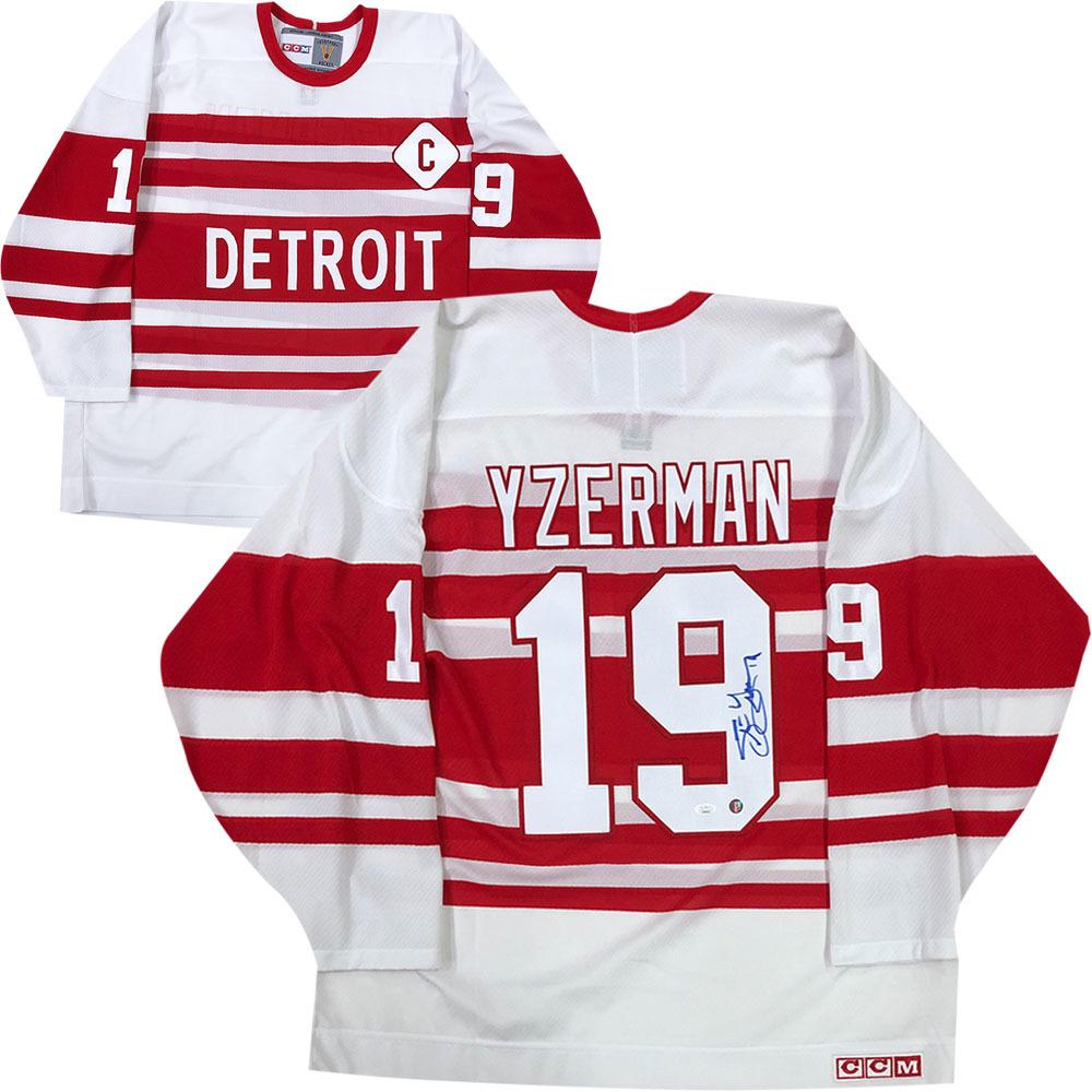 Steve Yzerman Autographed Detroit Red Wings CCM Vintage Jersey