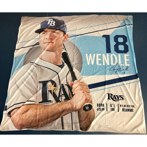 Photo of Rays Baseball Foundation: Team Issued Banner - Joey Wendle