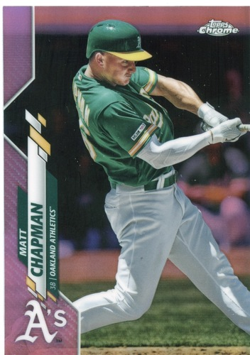 Photo of 2020 Topps Chrome Pink Refractors #193 Matt Chapman