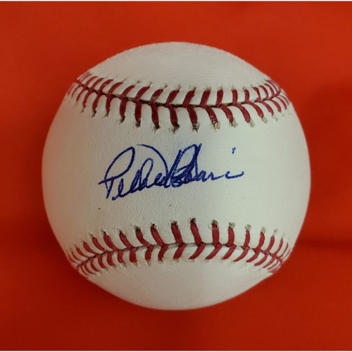 Sabo & Borbon 2010 Induction Autographed Baseball  (Borbon On Sweet Spot)