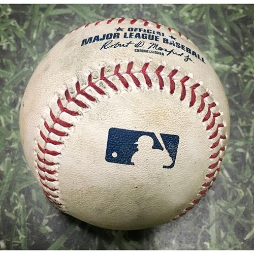 Photo of Game-Used Baseball CHC@MIL 04/07/18 - Yu Darvish - Jett Bandy: Strikeout