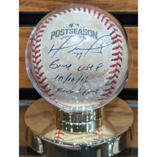 Photo of 2016 ALDS Game 3 David Ortiz Final Game Autographed Game Used Baseball