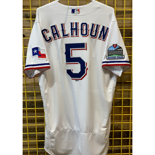 Photo of Willie Calhoun Team-Issued White Jersey