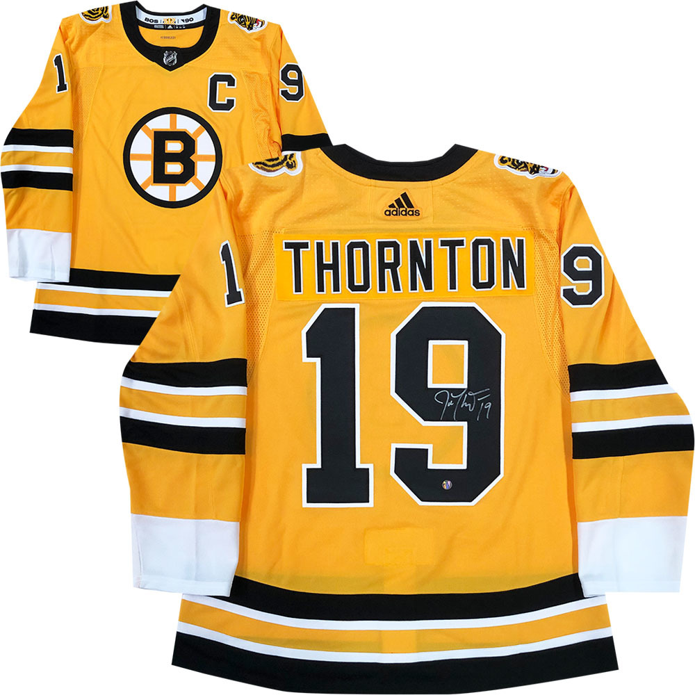 Joe Thornton Autographed Boston Bruins adidas Reverse Retro Jersey