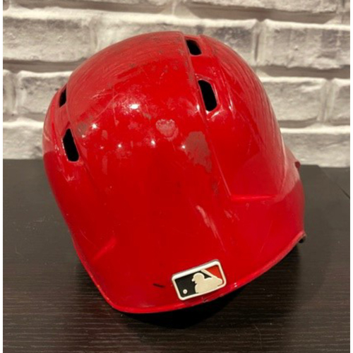 Photo of Tucker Barnhart -- Game-Used Helmet -- 2019 Opening Day -- Right Ear Flap -- Size 7 1/8