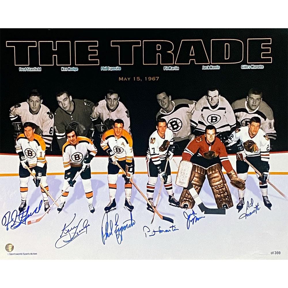 Phil Esposito 1967 THE TRADE Multi-Signed 16X20 Photo
