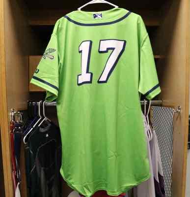 Stockton Ports Matt Cross Asparagus jersey, #17, Size 48