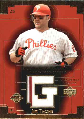 Photo of 2003 Sweet Spot Swatches #JT Jim Thome