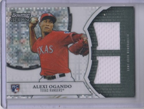 Photo of 2011 Bowman Sterling Rookie Dual Relic X-Fractors #AO Alexi Ogando