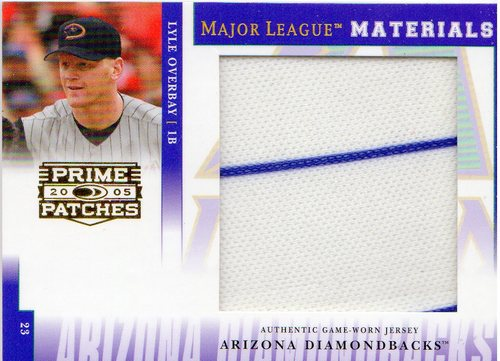 Photo of 2005 Prime Patches Major League Materials Jumbo Swatch #31 Lyle Overbay/40