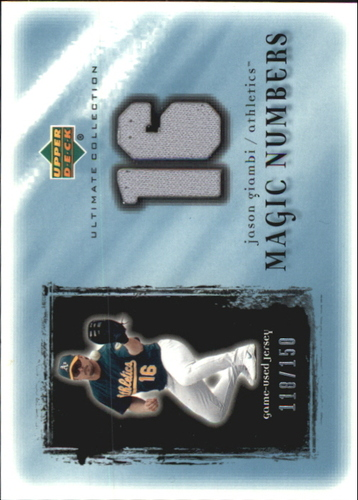 Photo of 2001 Ultimate Collection Magic Numbers Game Jersey #MNJAG Jason Giambi