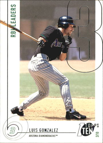 Photo of 2002 Topps Ten #44 Luis Gonzalez RBI