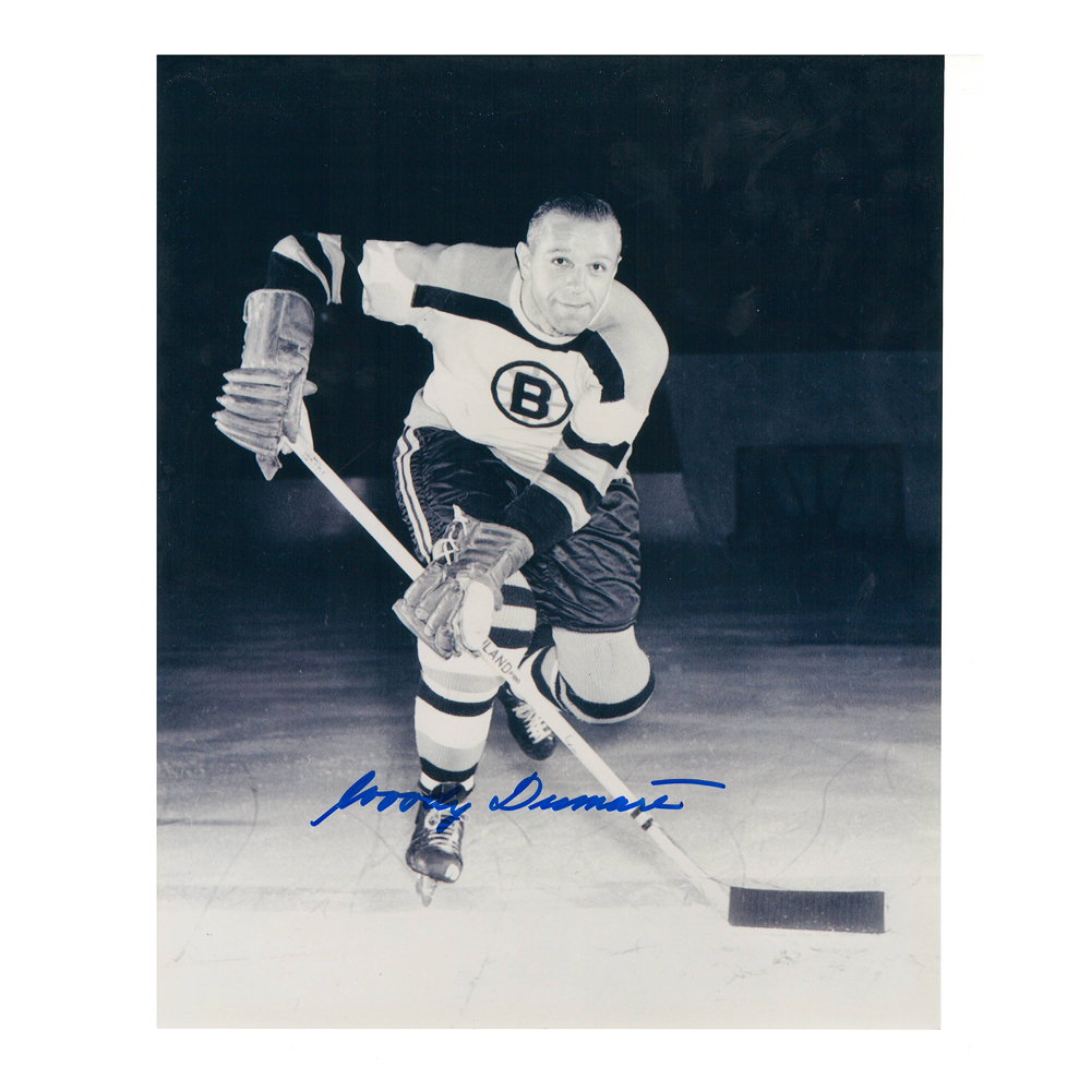 WOODY DUMART Signed Boston Bruins Vintage 8 X 10 Photo - 70040