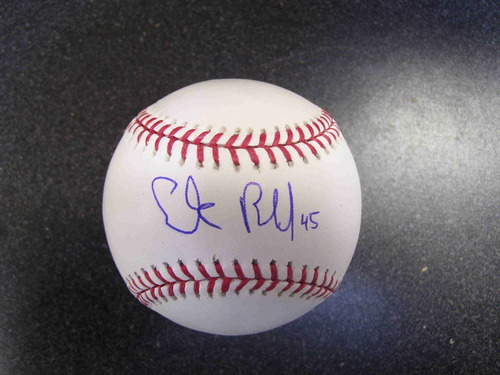 Photo of Erik Bedard Autographed Baseball