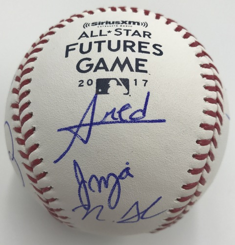 Photo of 2017 Futures Participates Dual Signed 2017 Futures Game Logo Baseball Option #1