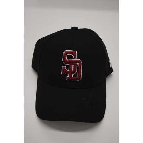 Photo of Simon Castro #67 - Signed & Game-Used Marjory Stoneman Douglas High School Hat - CHARITY AUCTION