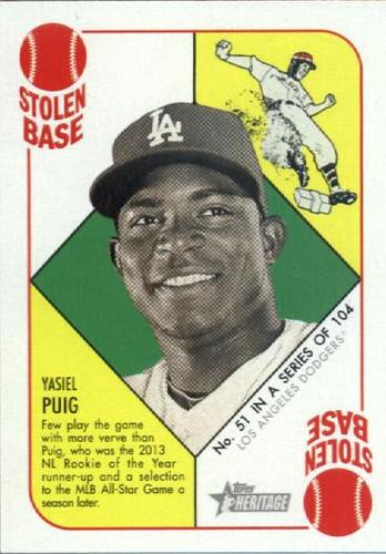 Photo of 2015 Topps Heritage '51 Collection #51 Yasiel Puig