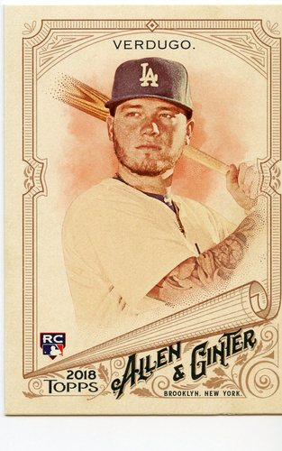 Photo of 2018 Topps Allen and Ginter #293 Alex Verdugo RC