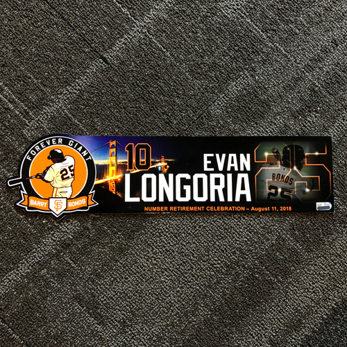 Photo of San Francisco Giants - 2018 Locker Tag #25 Retirement Day - Evan Longoria