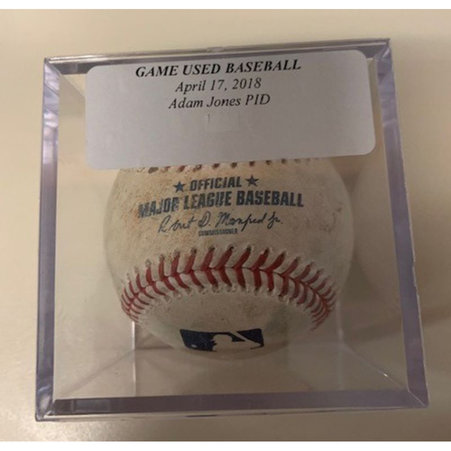 Photo of Game-Used Baseball: Ball Pitched to Adam Jones