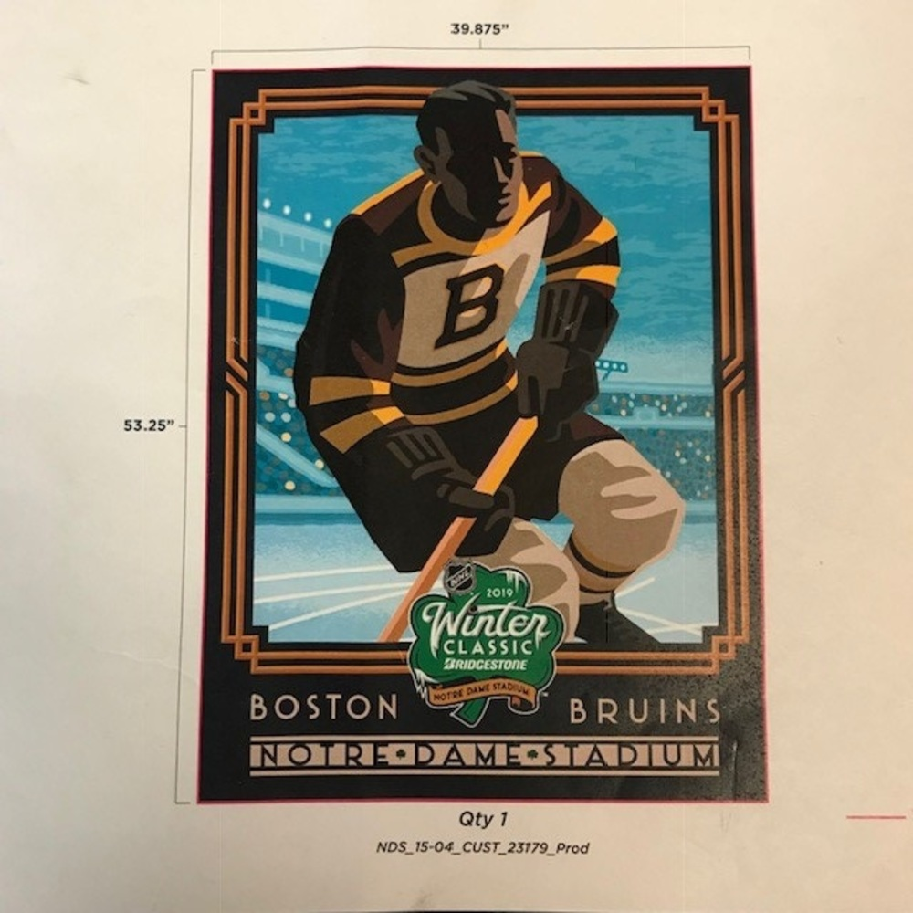 2019 NHL Winter Classic Boston Bruins Magnet