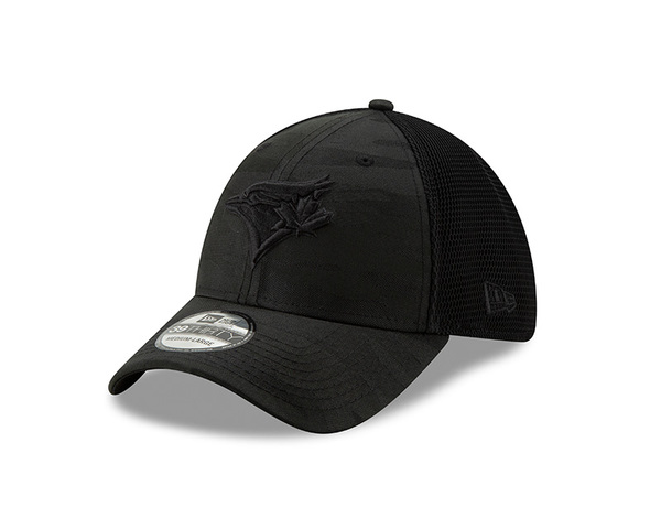 Toronto Blue Jays Camo Front Neo Black Stretch Cap by New Era