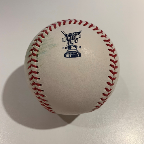 Photo of 2018 Home Run Derby - Game Used Baseball - Batter: Bryce Harper -  Finals Out